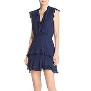 Parker Tangia Silk Dress | Blue Horizon | Size 10